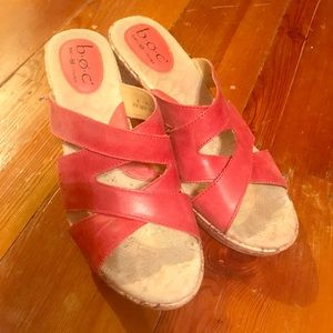 BOC Born red leather sandals 9